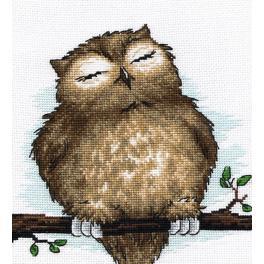 Zestaw z muliną - Śpiąca sowa