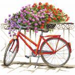 Kanwa z nadrukiem - Rowerem przez lato