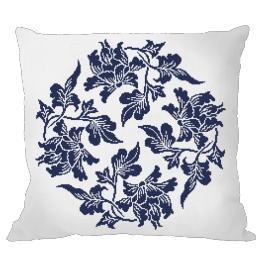 Wzór graficzny - Poduszka - Chińska porcelana I