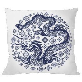 Zestaw z muliną i poszewką - Poduszka - Chińska porcelana III