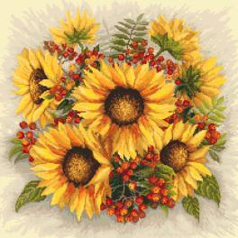 Wzór graficzny online - Słoneczniki