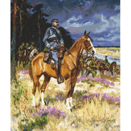 Wzór graficzny - Piłsudski na Kasztance
