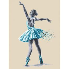 Zestaw z nadrukiem i muliną - Baletnica - Zmysłowe piękno