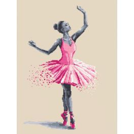 Kanwa z nadrukiem - Baletnica - Ulotne chwile