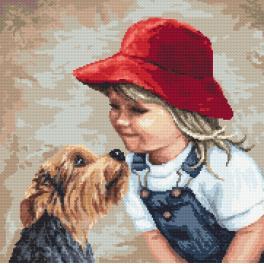 Zestaw z nadrukiem i muliną - Psia miłość
