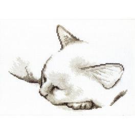 Zestaw z muliną - Śpiący kotek