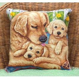 Zestaw z muliną - Poduszka z psami - Blisko mamy