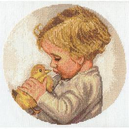 Zestaw z muliną - Chłopiec z kaczątkiem