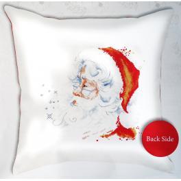 Zestaw z muliną i poszewką - Poduszka - Święty Mikołaj