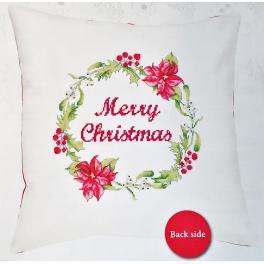 Zestaw z muliną i poszewką - Poduszka - Merry Christmas