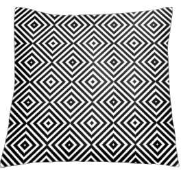 Wzór graficzny - Poduszka - Kontrastowe romby - Haft krzyżykowy