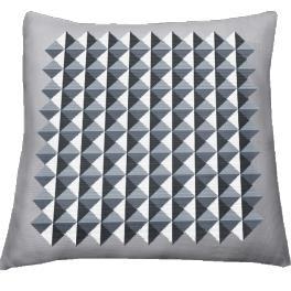 Wzór graficzny - Poduszka - Iluzja trójkątów - Haft krzyżykowy