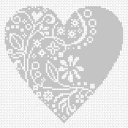 Wzór graficzny online - Ażurowe serduszko
