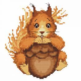 W 10062 Wzór graficzny ONLINE pdf - Mała wiewiórka