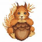 Wzór graficzny online - Mała wiewiórka