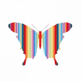 Wzór graficzny online - Tęczowy motyl