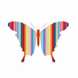 Zestaw z muliną i koralikami - Tęczowy motyl