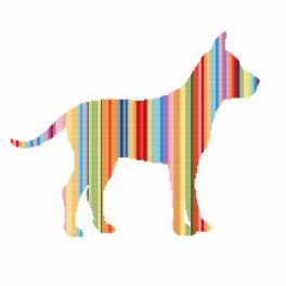 Wzór graficzny online - Tęczowy pies