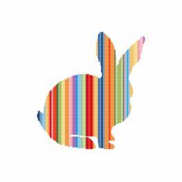 Zestaw z muliną i koralikami - Tęczowy królik