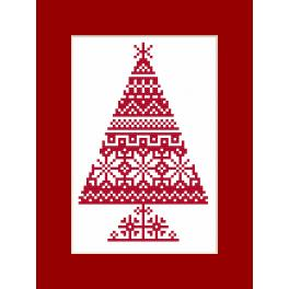 GU 8870 Wzór graficzny - Kartka - Choinka etniczna