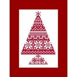 W 8870 Wzór graficzny ONLINE pdf - Kartka - Choinka etniczna