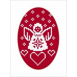 ZU 8871 Zestaw do haftu - Kartka - Aniołek
