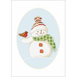 Wzór graficzny - Kartka - Zimowi przyjaciele