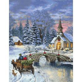 Kanwa z nadrukiem - Świąteczna nostalgia