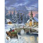 Zestaw z nadrukiem i muliną - Świąteczna nostalgia