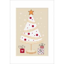 W 8791 Wzór graficzny ONLINE pdf - Kartka świąteczna - Choinka