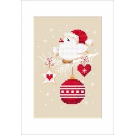 Wzór graficzny online - Kartka świąteczna - Ptaszek
