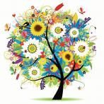 Zestaw do diamond painting - Kwiatowe drzewo