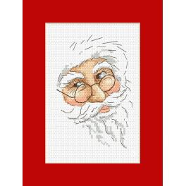 Wzór graficzny online - Kartka z Mikołajem