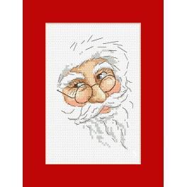 Wzór graficzny - Kartka z Mikołajem