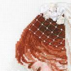 Zestaw z muliną, koralikami i wstążką - Pani Młoda