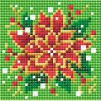 Zestaw do diamond painting - Poinsetia
