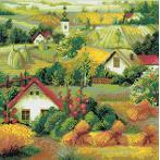 Zestaw do diamond painting - Serbski krajobraz