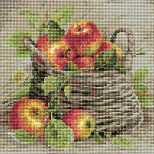 Zestaw do diamond painting - Dojrzałe jabłka
