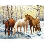 Zestaw z muliną - Konie nad rzeką