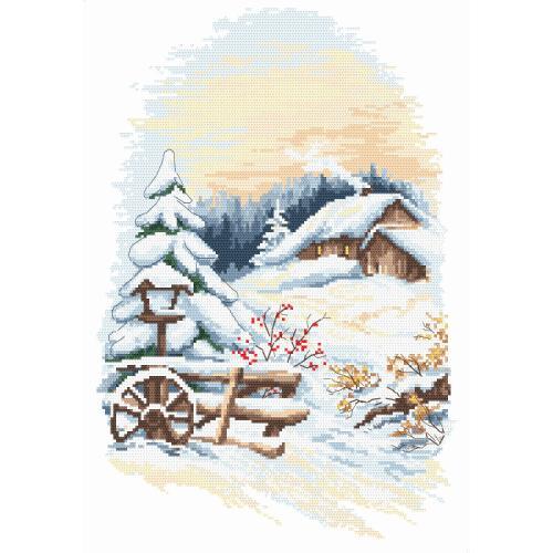 Zestaw z nadrukiem i muliną - Uroki zimy