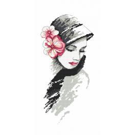 Zestaw z muliną i koralikami - Alabastrowa dama