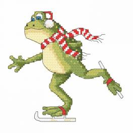 Wzór graficzny online - Żaba na łyżwach