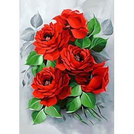 Zestaw do diamond painting - Eleganckie róże