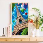 Zestaw do diamond painting - Niebo nad Paryżem