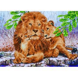 Zestaw do diamond painting - Rodzina lwów