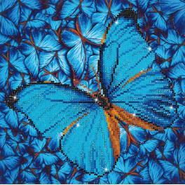Zestaw do diamond painting - Błękitny motyl