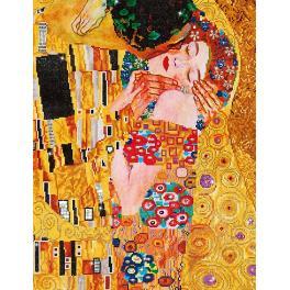 DD13.001 Zestaw do diamond painting - Pocałunek wg. G.Klimta