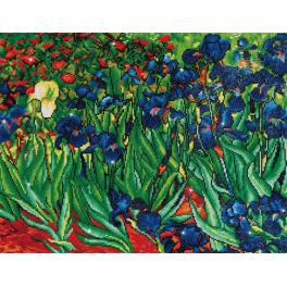 Zestaw do diamond painting - Irysy wg V.van Gogha