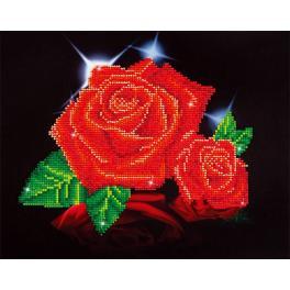 Zestaw do diamond painting - Blask czerwonej róży