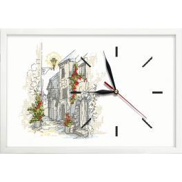 Wzór graficzny - Zegar z uliczką